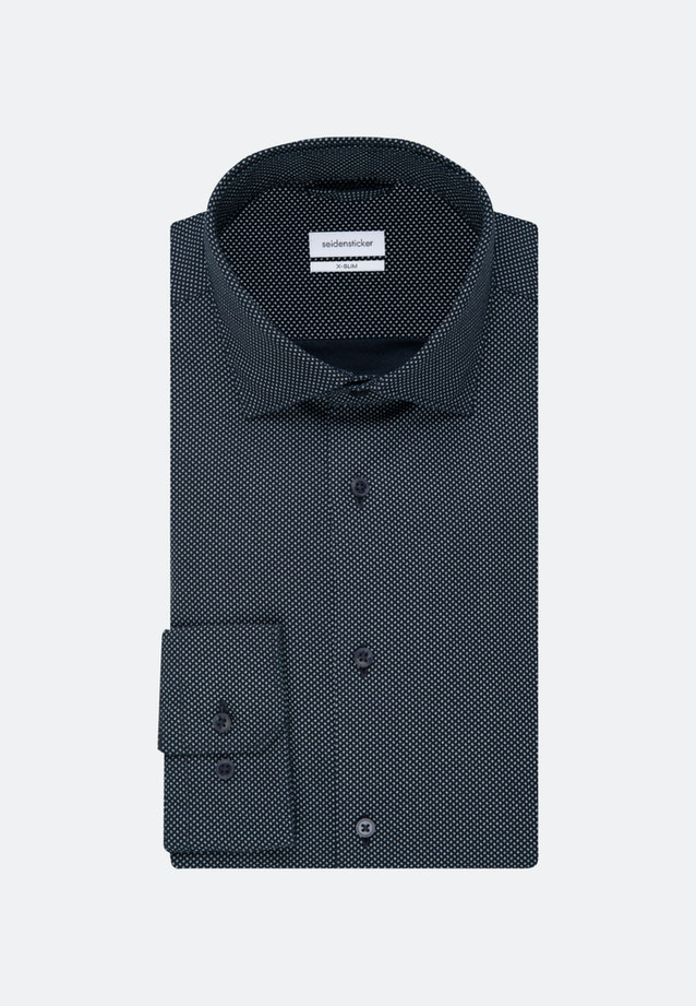 Easy-iron Oxford Business Shirt in X-Slim with Kent-Collar in Dark blue |  Seidensticker Onlineshop