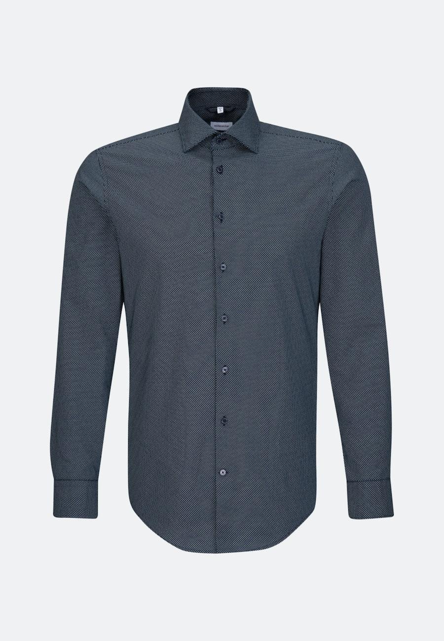 Bügelleichtes Oxford Business Hemd in X-Slim mit Kentkragen in Dunkelblau |  Seidensticker Onlineshop