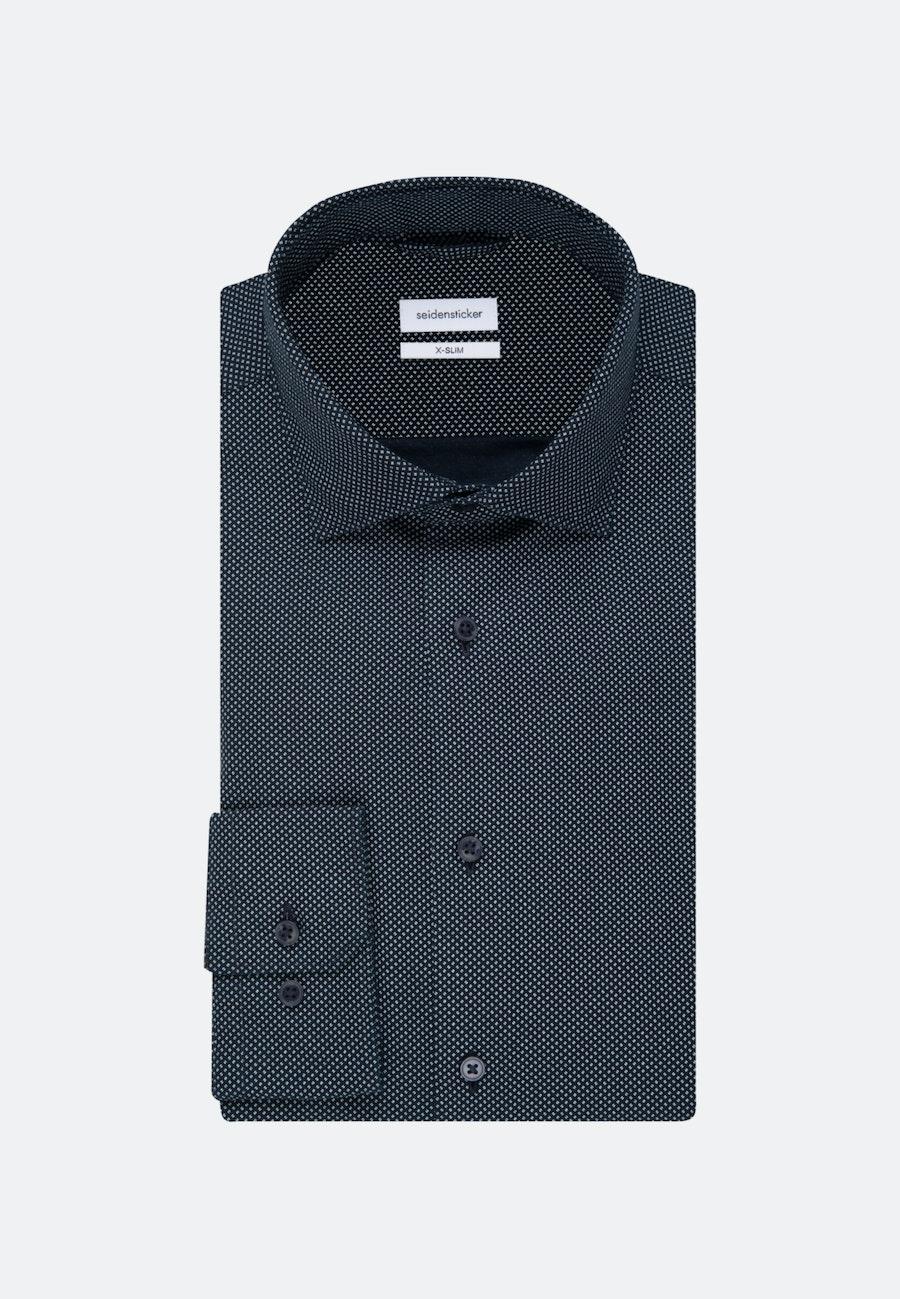 Bügelleichtes Oxford Business Hemd in X-Slim mit Kentkragen in Dunkelblau    Seidensticker Onlineshop