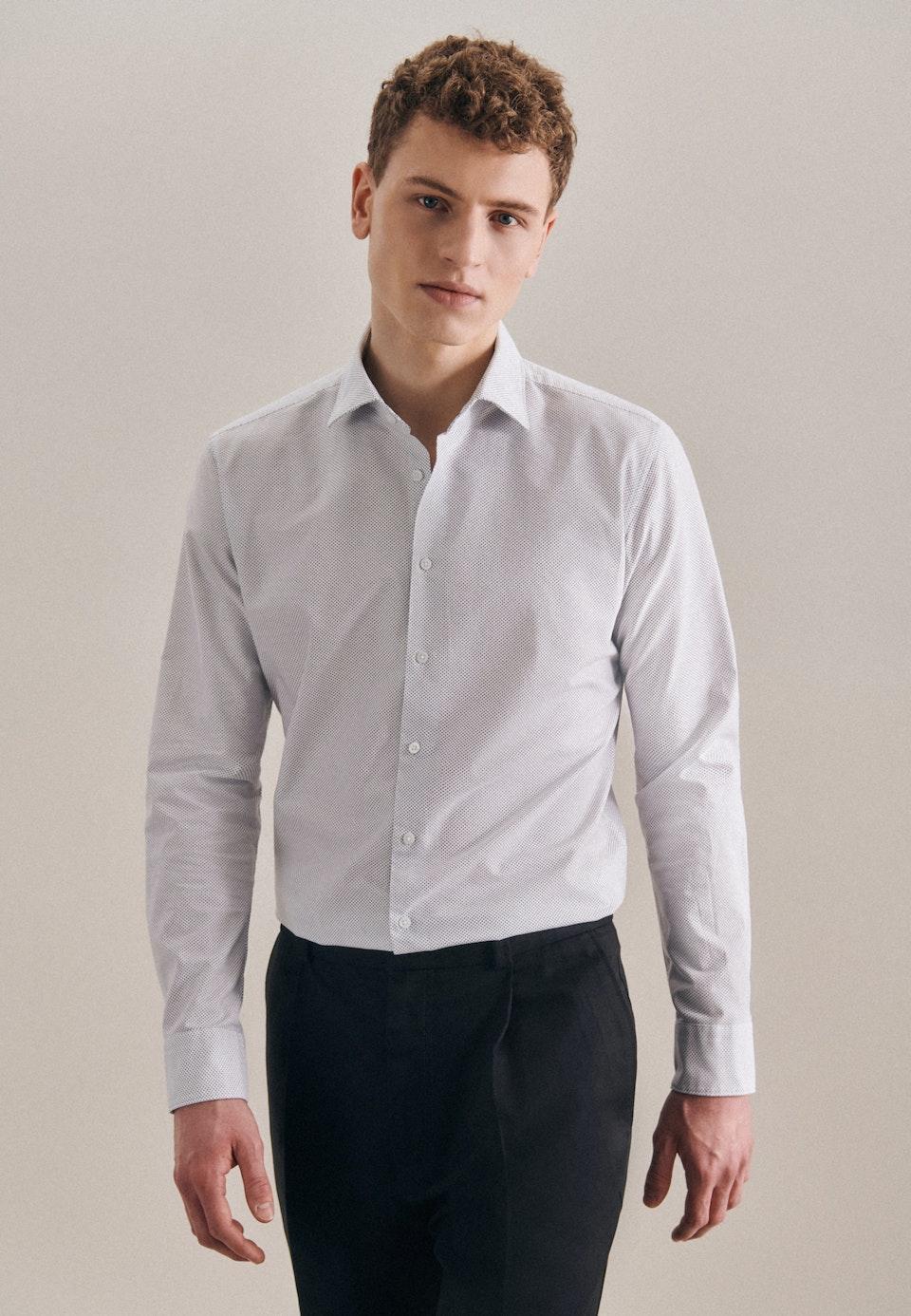 Bügelleichtes Oxford Business Hemd in X-Slim mit Kentkragen in Weiß    Seidensticker Onlineshop