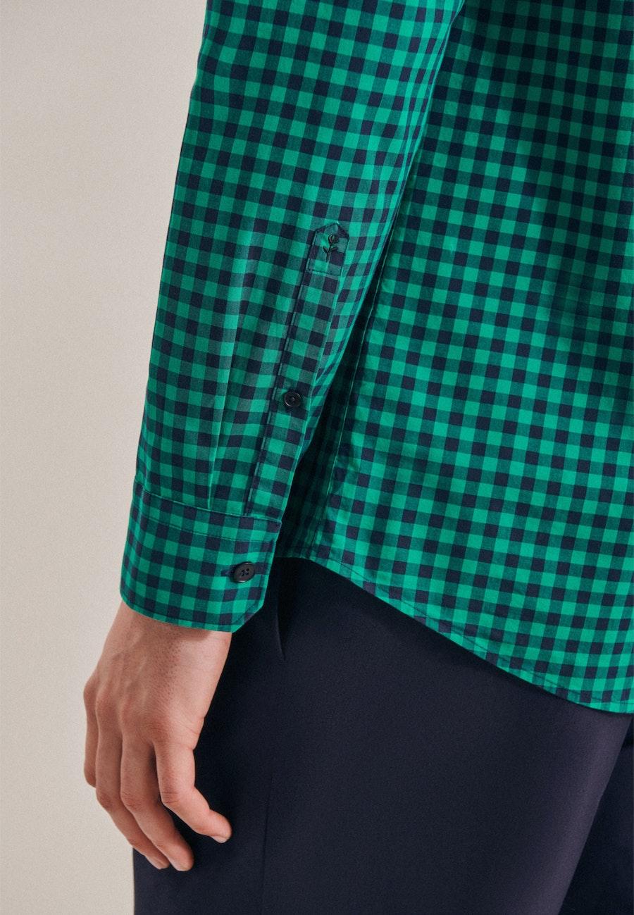 Popeline Business Hemd in Regular mit Button-Down-Kragen in Grün |  Seidensticker Onlineshop