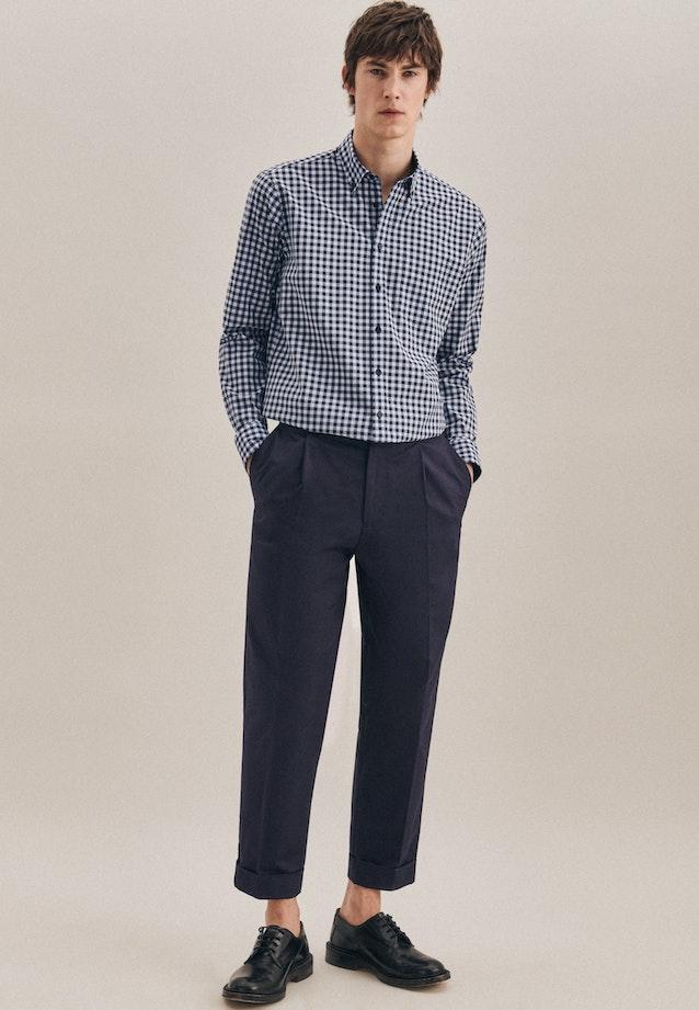 Popeline Business Hemd in Regular mit Button-Down-Kragen in Hellblau |  Seidensticker Onlineshop