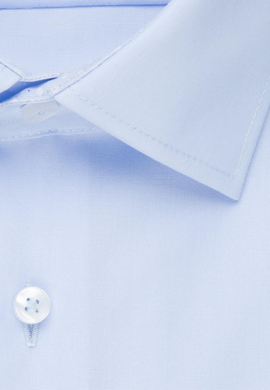 Non-iron Popeline Business Shirt in Shaped with Kent-Collar in Medium blue |  Seidensticker Onlineshop