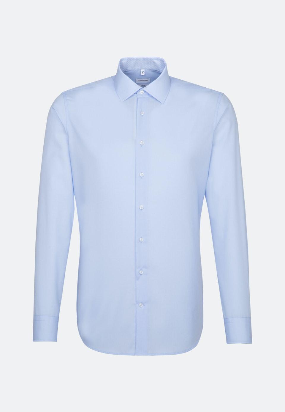 Bügelfreies Popeline Business Hemd in Shaped mit Kentkragen in Mittelblau    Seidensticker Onlineshop