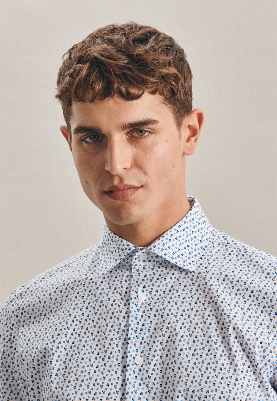 Poplin Business Shirt in Slim with Kent-Collar in Turquoise |  Seidensticker Onlineshop