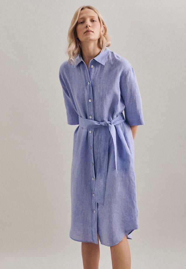 Leinen Maxi Kleid aus 100% Leinen in Dunkelblau |  Seidensticker Onlineshop