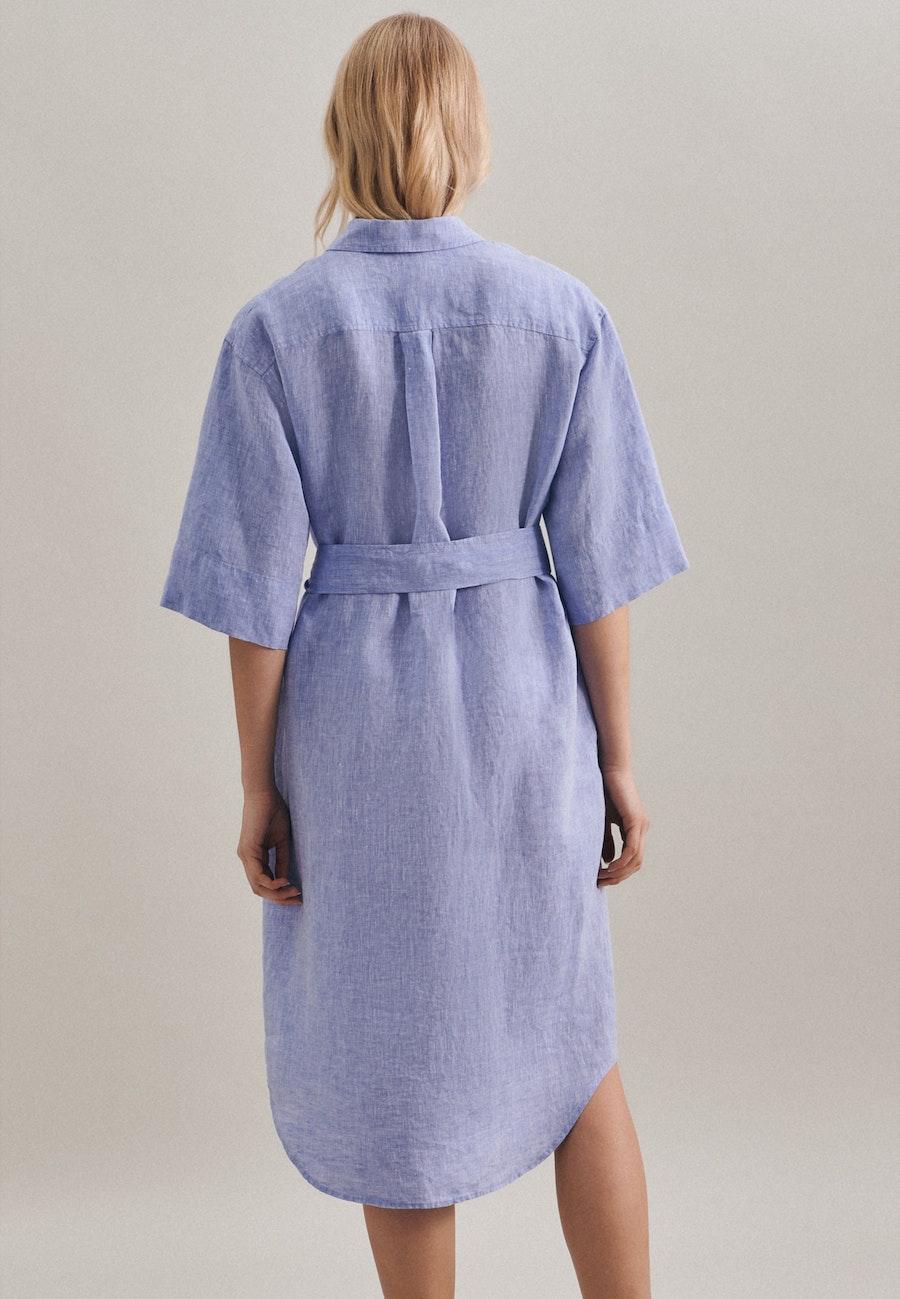 Leinen Maxi Dress made of 100% Linen in Dark blue |  Seidensticker Onlineshop