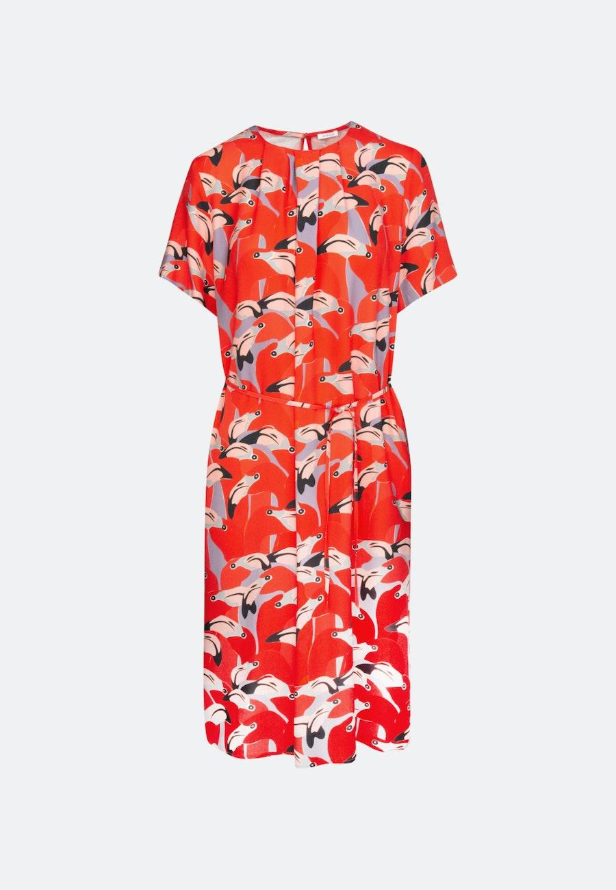 Krepp Midi Dress made of 100% Viscose in Red |  Seidensticker Onlineshop