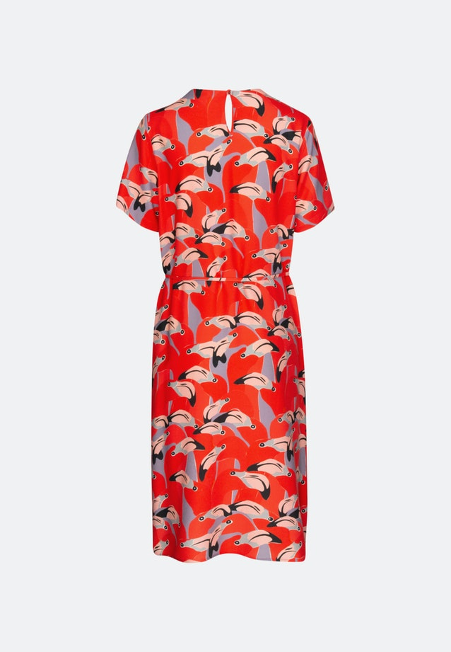 Krepp Midi Dress made of 100% Viscose in Red |  Seidensticker Onlineshop