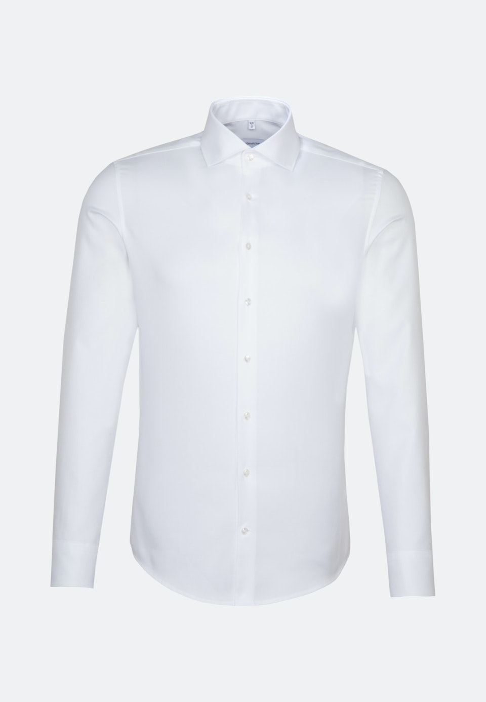 Bügelleichtes Struktur Business Hemd in Slim mit Kentkragen in Weiß    Seidensticker Onlineshop