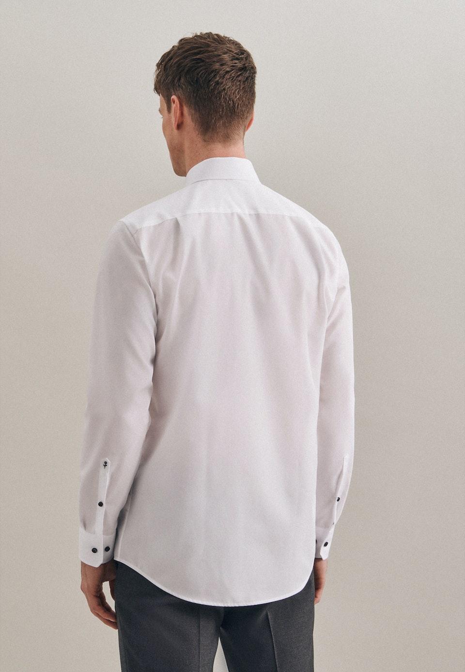 Bügelfreies Popeline Business Hemd in Regular mit Kentkragen in Weiß    Seidensticker Onlineshop