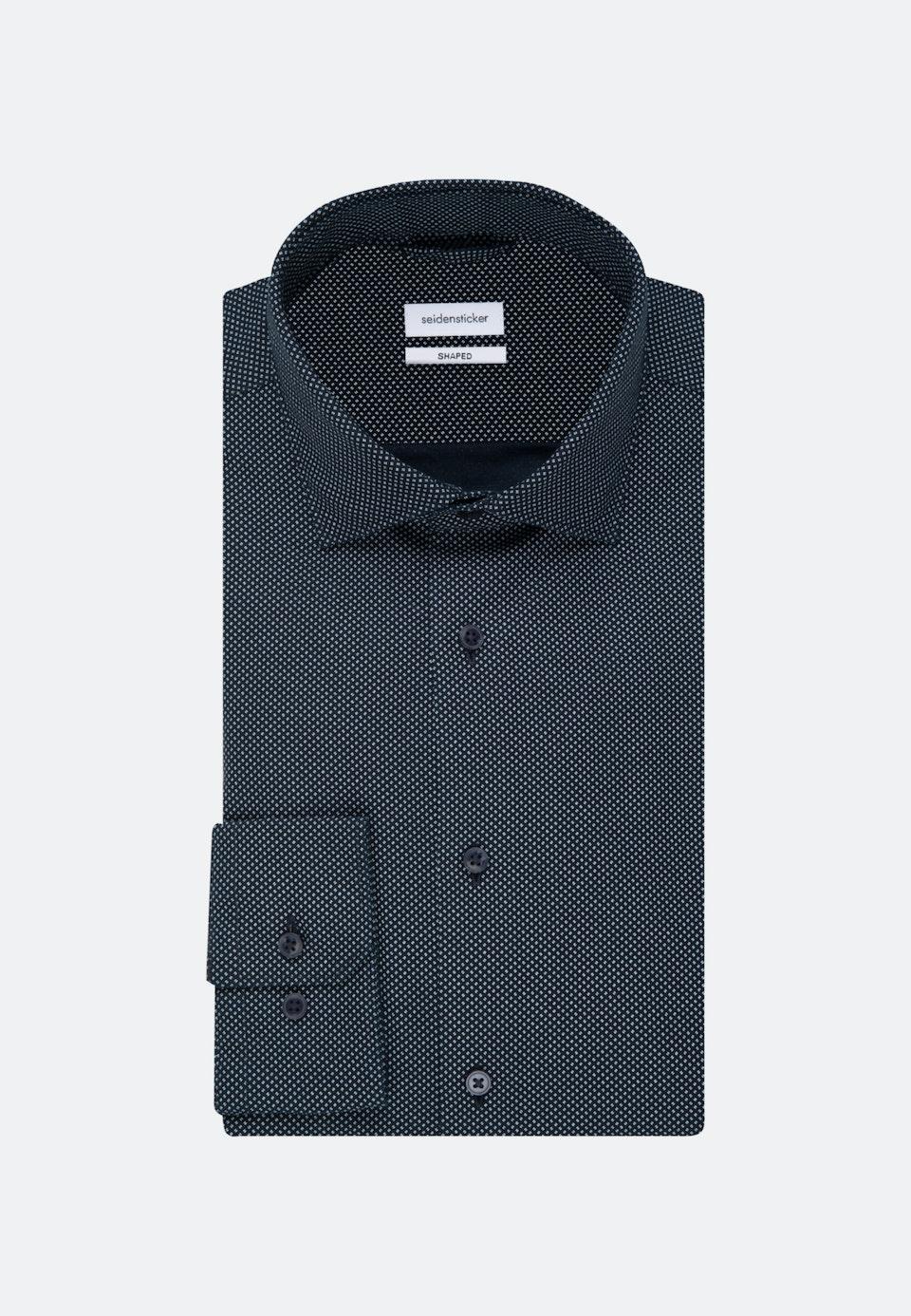 Easy-iron Oxford Business Shirt in Shaped with Kent-Collar in Dark blue    Seidensticker Onlineshop