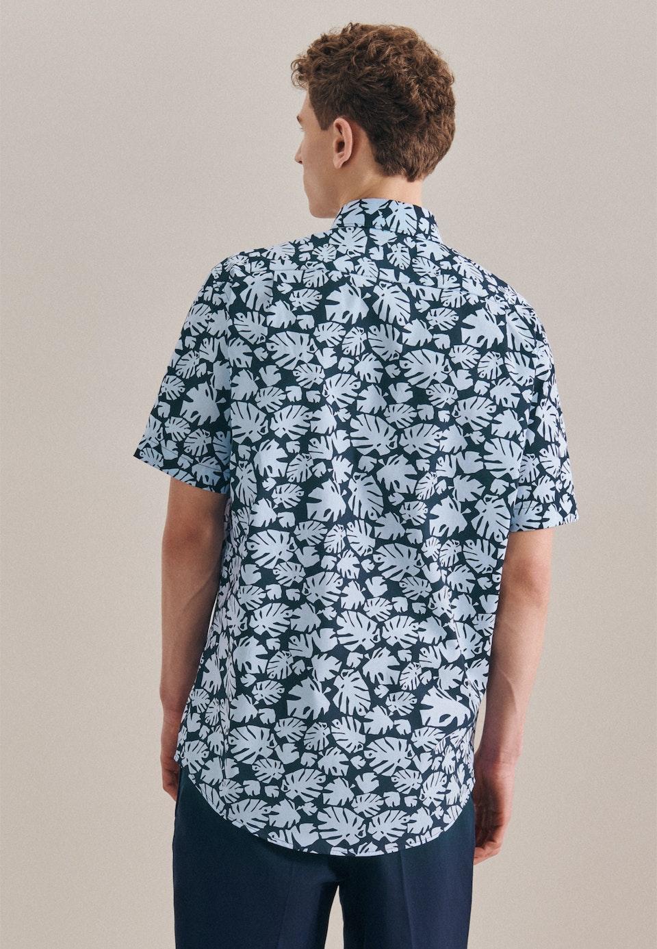 Easy-iron Popeline Short sleeve Business Shirt in Regular with Kent-Collar in Light blue    Seidensticker Onlineshop