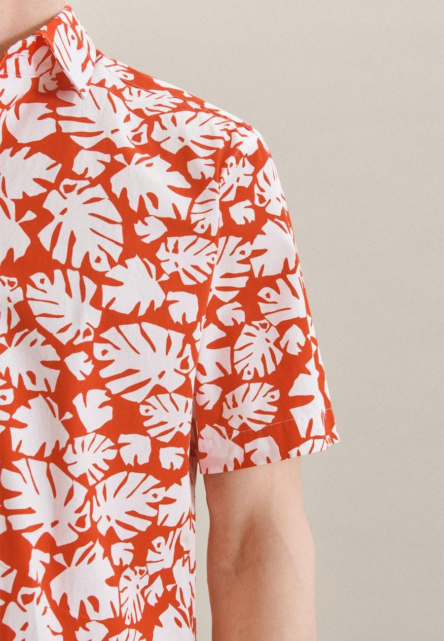 Poplin Short sleeve Business Shirt in Regular with Kent-Collar in Red |  Seidensticker Onlineshop