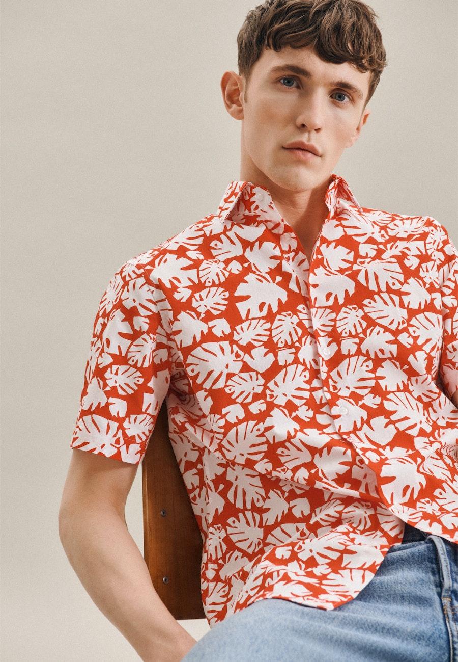 Easy-iron Poplin Short sleeve Business Shirt in Regular with Kent-Collar in Red |  Seidensticker Onlineshop