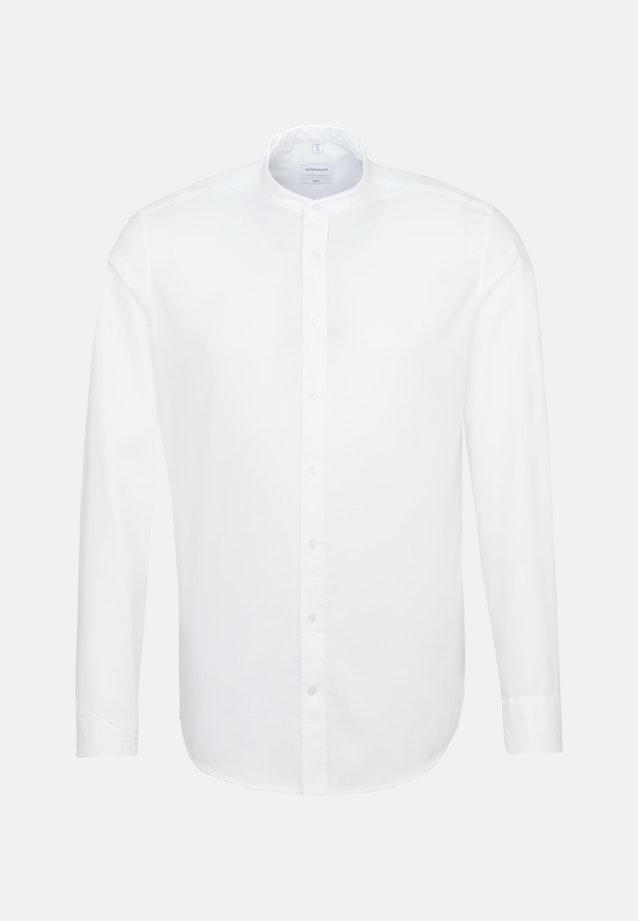 Bügelfreies Twill Business Hemd in Slim mit Stehkragen in Weiß |  Seidensticker Onlineshop