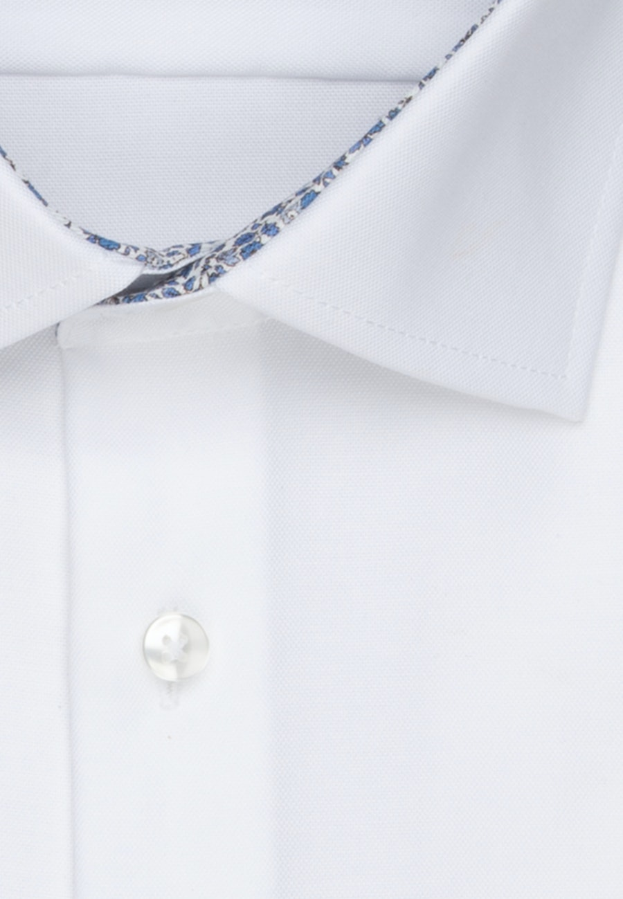 Non-iron Oxford Business Shirt in Slim with Kent-Collar and extra long sleeve in White    Seidensticker Onlineshop