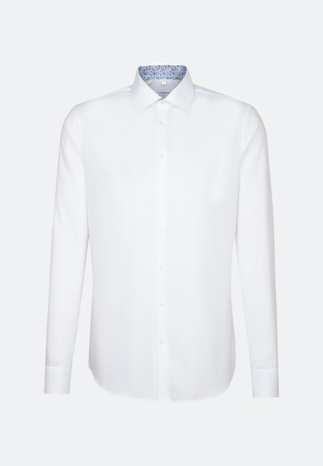 Non-iron Oxford Business Shirt in Slim with Kent-Collar and extra long sleeve in White |  Seidensticker Onlineshop