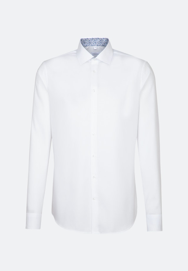 Bügelfreies Oxford Business Hemd in Slim mit Kentkragen und extra langem Arm in Weiß |  Seidensticker Onlineshop