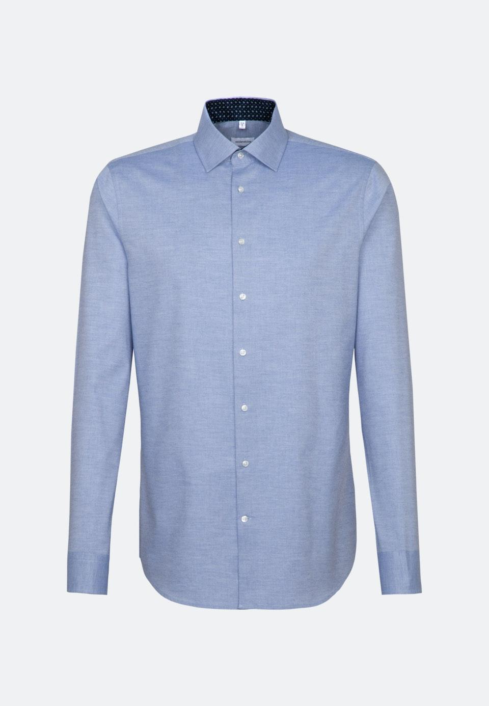Bügelleichtes Twill Business Hemd in Slim mit Kentkragen und extra langem Arm in Hellblau    Seidensticker Onlineshop