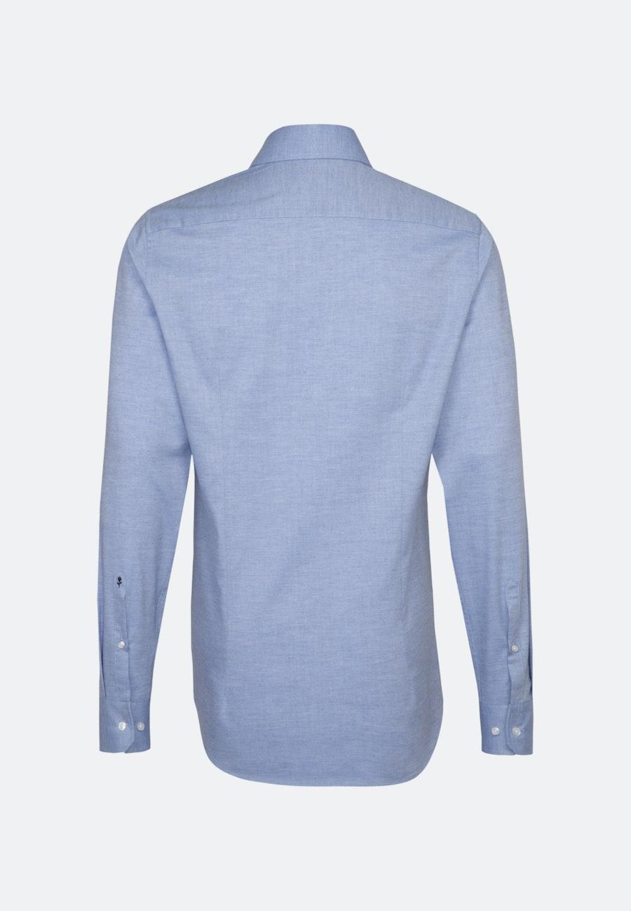 Bügelleichtes Twill Business Hemd in Slim mit Kentkragen und extra langem Arm in Hellblau |  Seidensticker Onlineshop