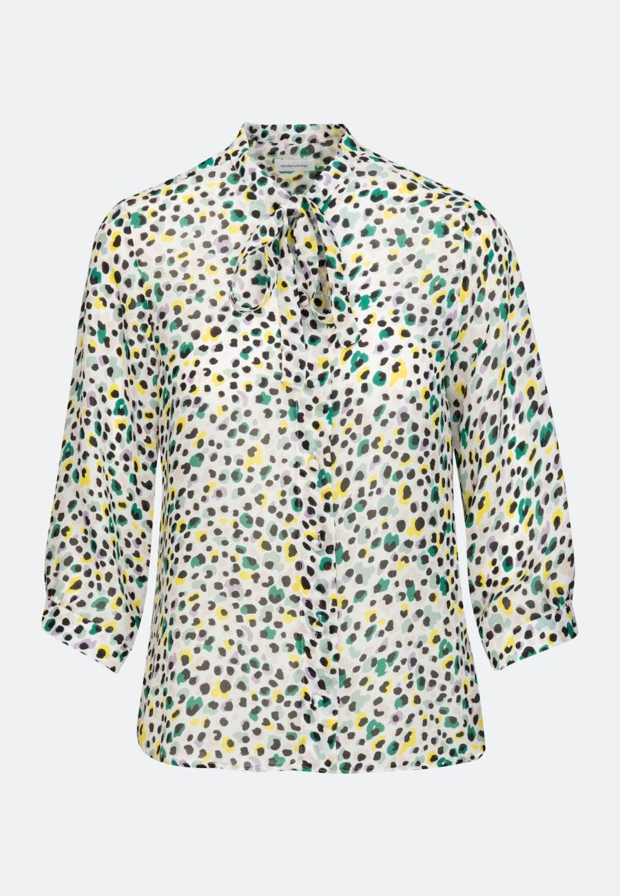 3/4-sleeve Krepp Stand-Up Blouse made of 100% Viscose in Ecru |  Seidensticker Onlineshop