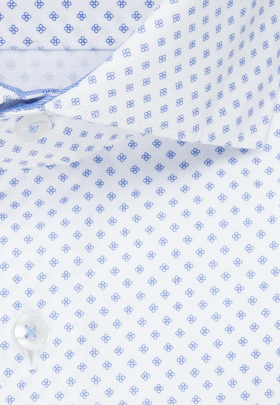Twill Business Hemd in Shaped mit Kentkragen in Weiß    Seidensticker Onlineshop