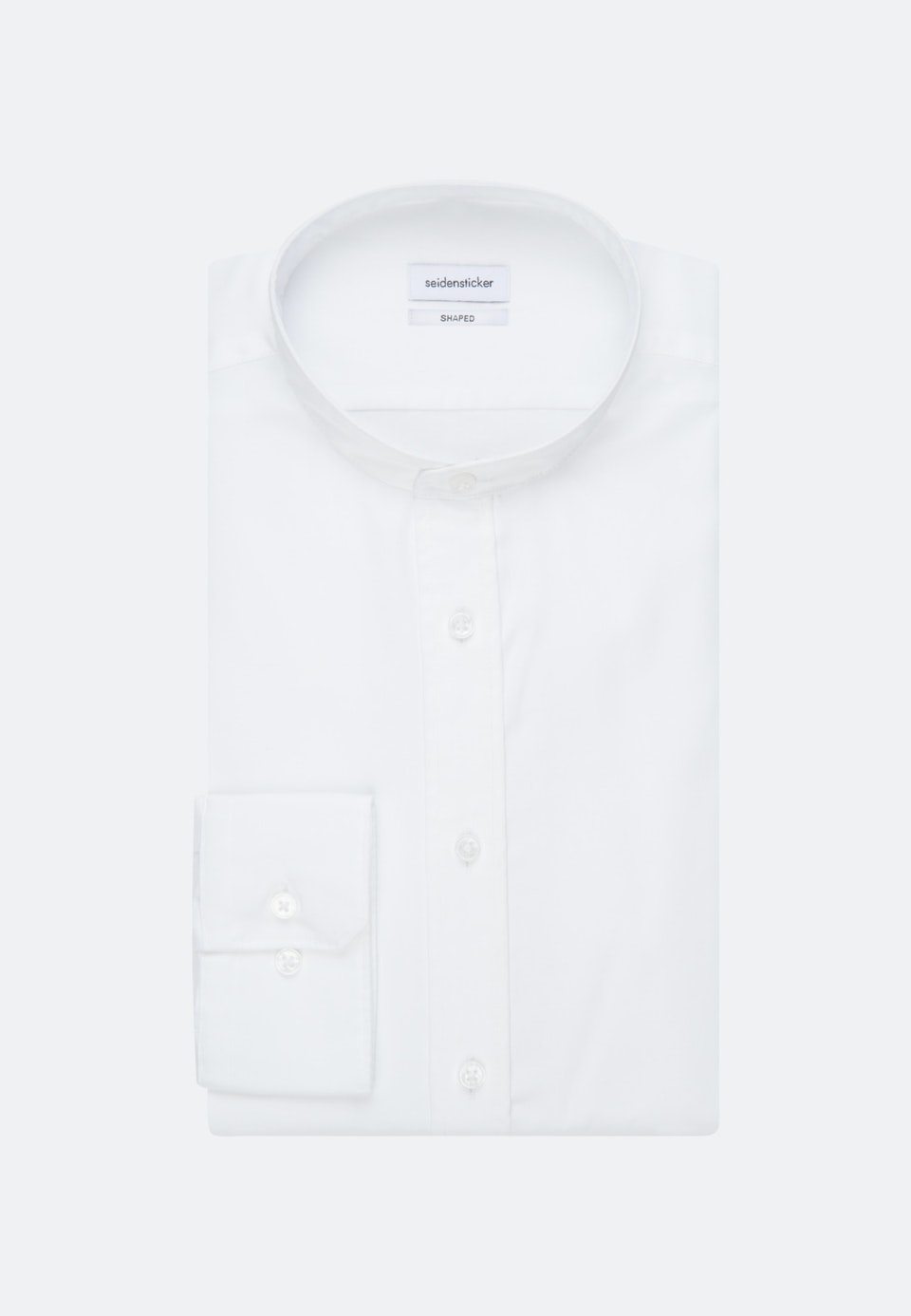 Non-iron Twill Business Shirt in Shaped with Stand-Up Collar in White |  Seidensticker Onlineshop