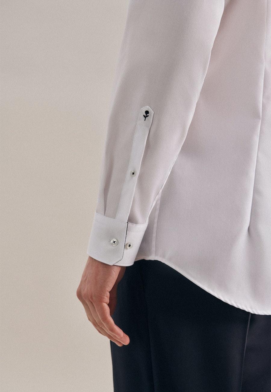 Bügelfreies Twill Business Hemd in Shaped mit Kentkragen in Weiß    Seidensticker Onlineshop