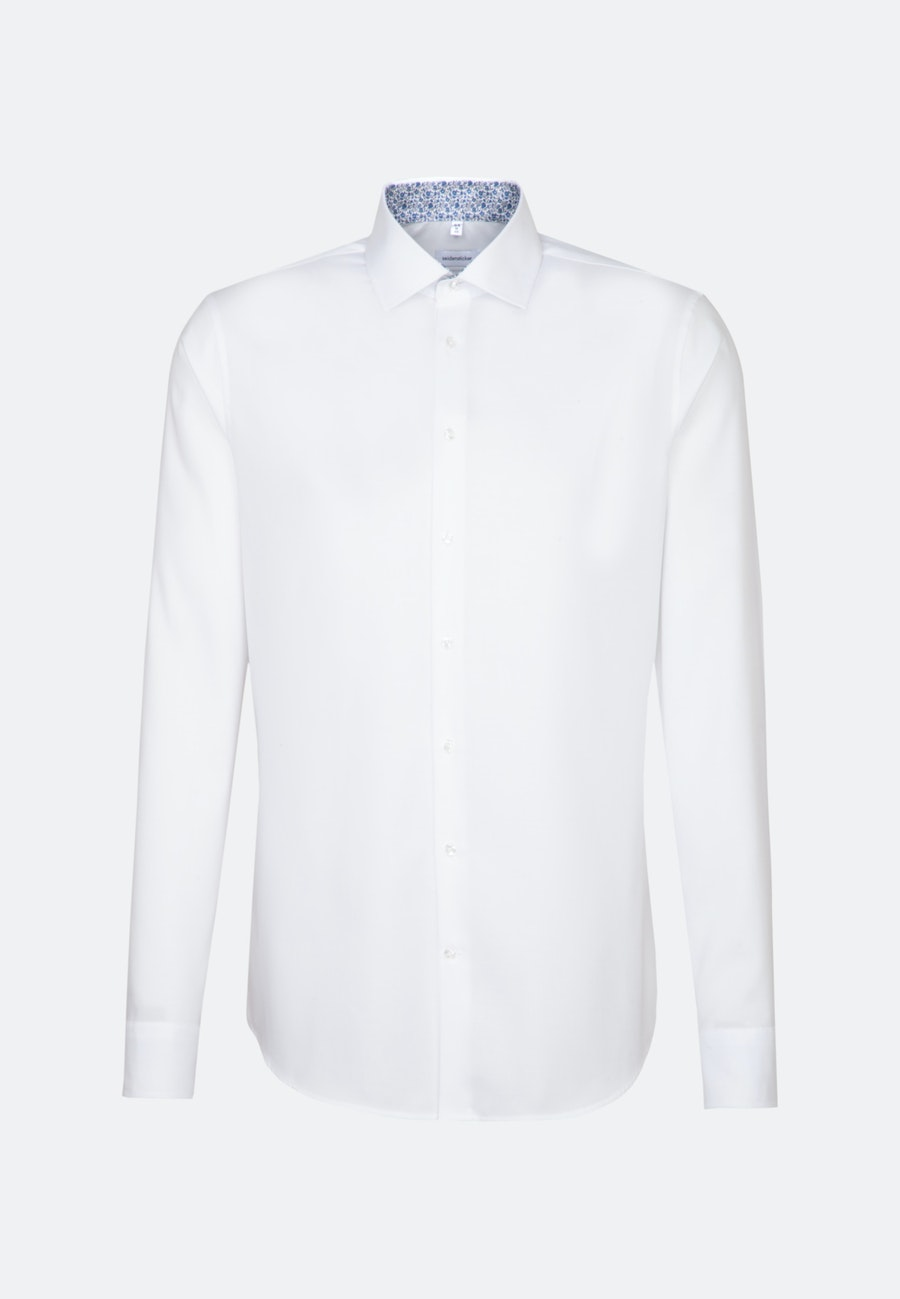 Non-iron Oxford Business Shirt in Shaped with Kent-Collar and extra long sleeve in White |  Seidensticker Onlineshop
