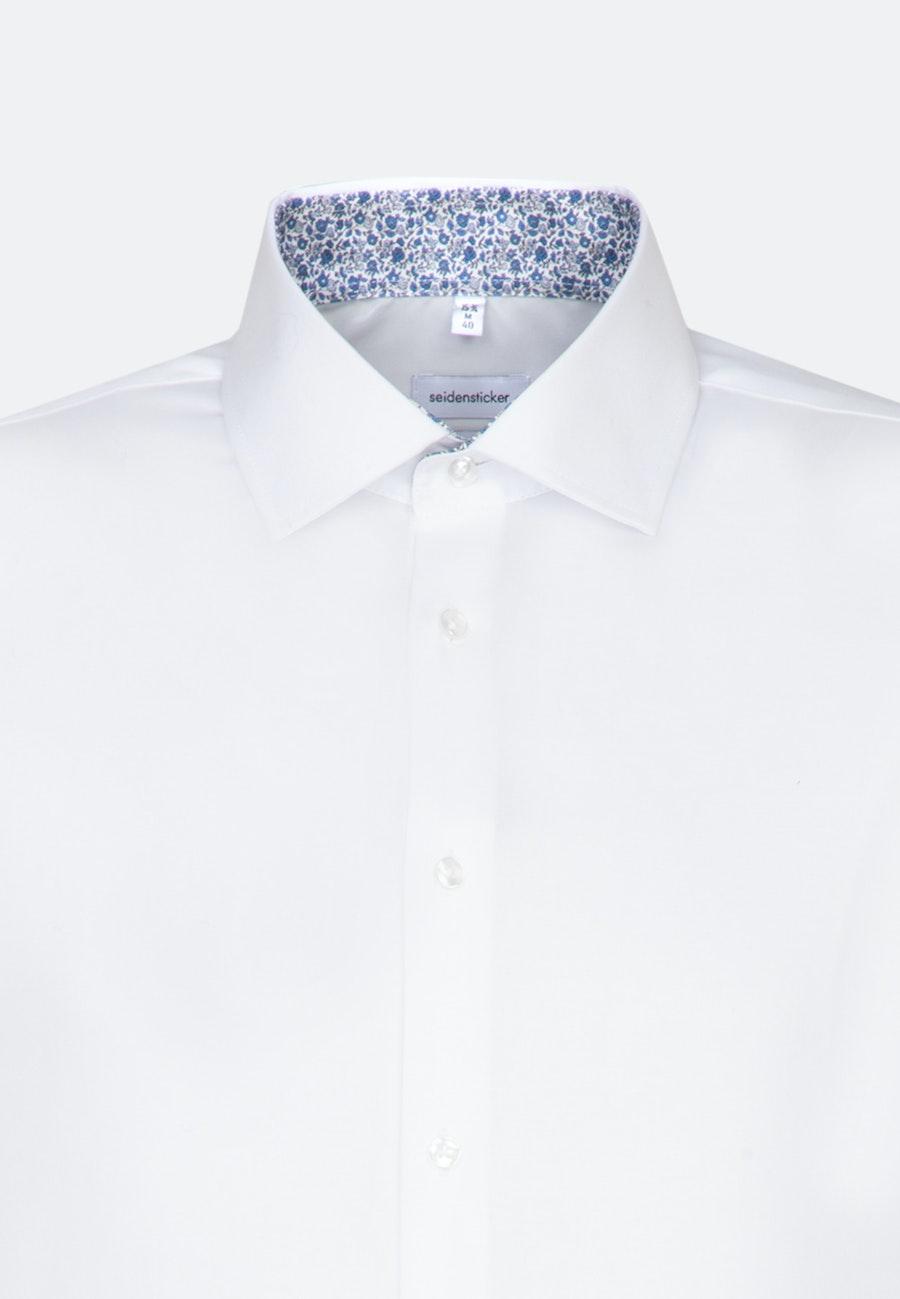 Bügelfreies Oxfordhemd in X-Slim mit Kentkragen und extra langem Arm in Weiß |  Seidensticker Onlineshop
