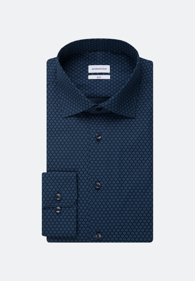 Easy-iron Popeline Business Shirt in Slim with Kent-Collar and extra long sleeve in Light blue |  Seidensticker Onlineshop