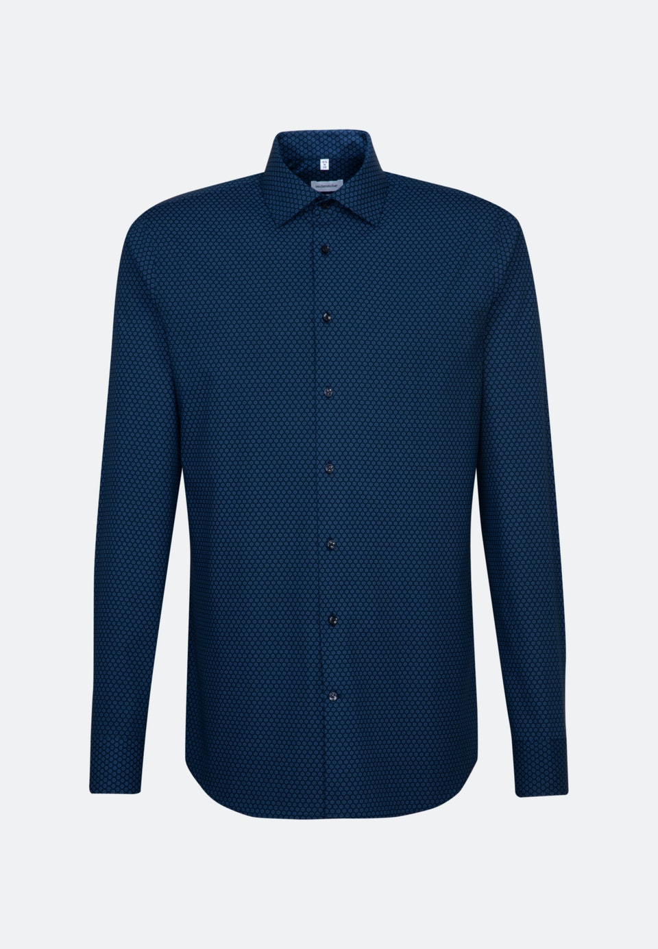 Easy-iron Popeline Business Shirt in Slim with Kent-Collar and extra long sleeve in Light blue    Seidensticker Onlineshop