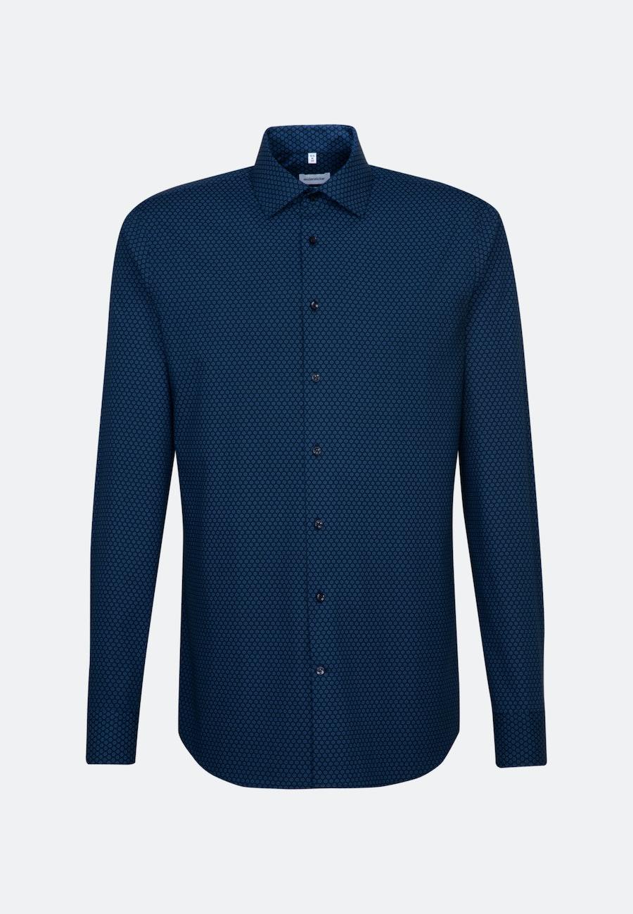 Bügelleichtes Popeline Business Hemd in Slim mit Kentkragen und extra langem Arm in Hellblau    Seidensticker Onlineshop