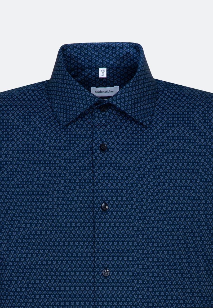 Bügelleichtes Popeline Business Hemd in Slim mit Kentkragen und extra langem Arm in Hellblau |  Seidensticker Onlineshop
