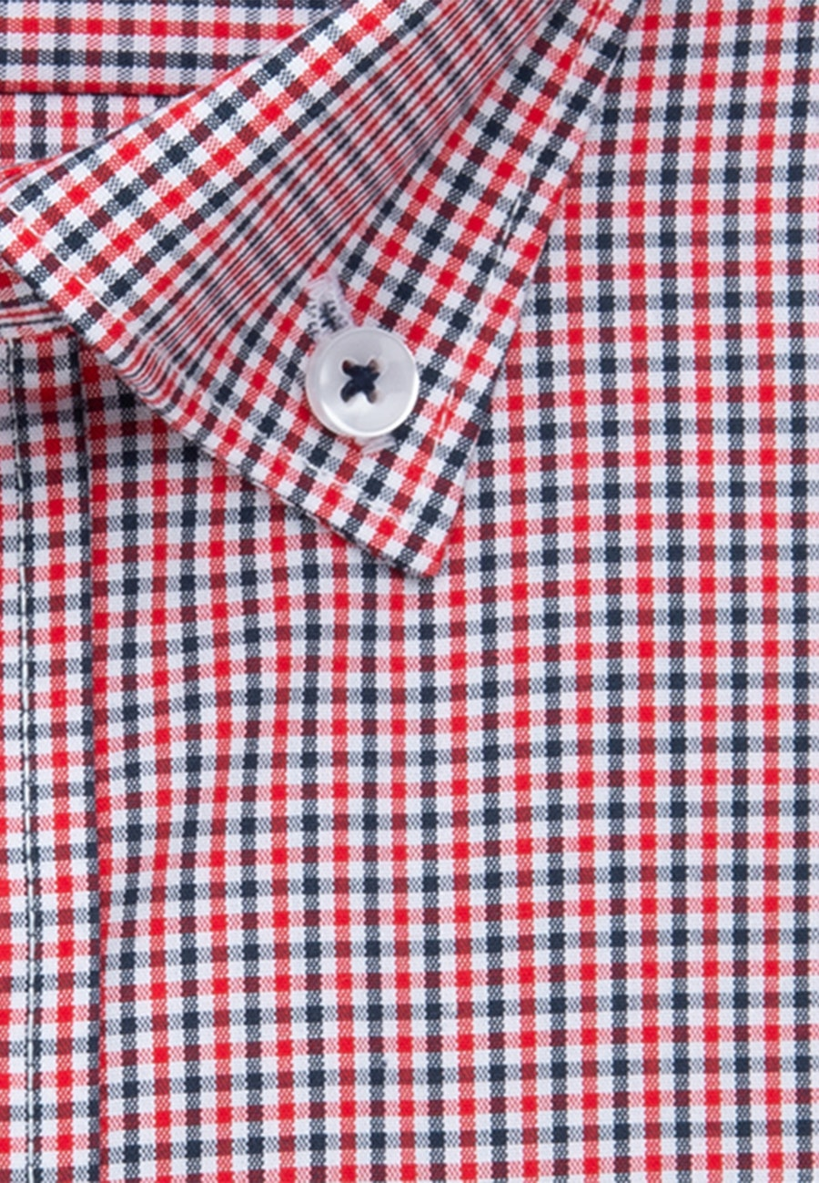 Bügelfreies Popeline Kurzarm Business Hemd in Regular mit Button-Down-Kragen in Rot |  Seidensticker Onlineshop