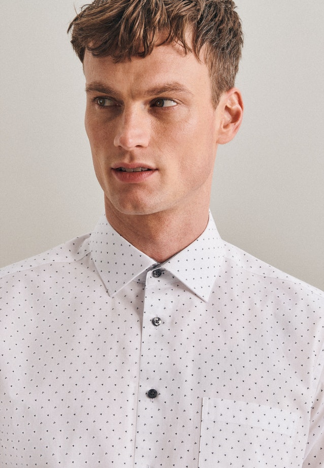 Easy-iron Popeline Business Shirt in Regular with Kent-Collar in Grey |  Seidensticker Onlineshop