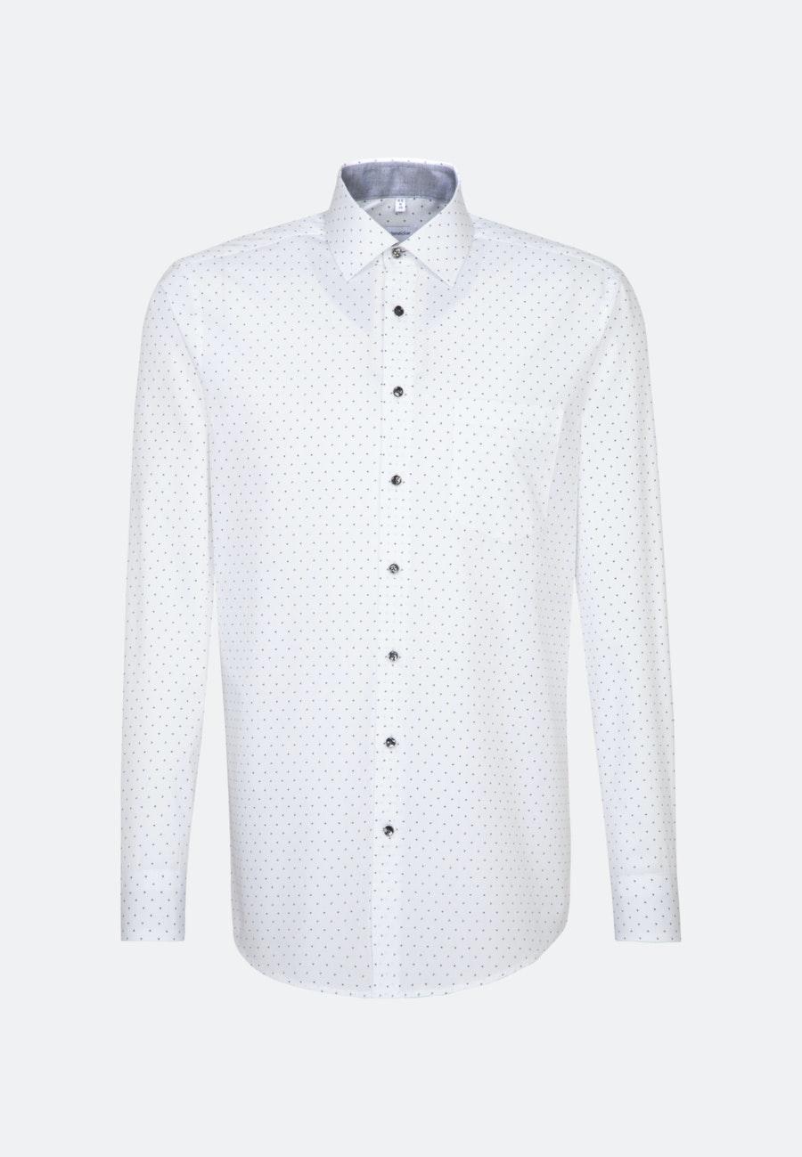 Easy-iron Popeline Business Shirt in Regular with Kent-Collar in Grey |  Seidensticker Onlineshop