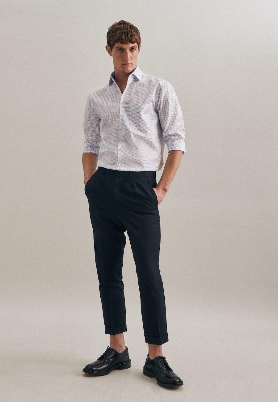 Easy-iron Twill Business Shirt in Regular with Kent-Collar in White |  Seidensticker Onlineshop