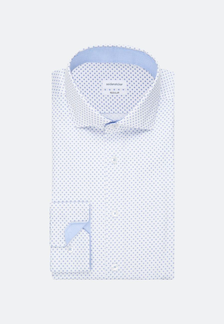 Bügelleichtes Twill Business Hemd in Regular mit Kentkragen in Weiß |  Seidensticker Onlineshop