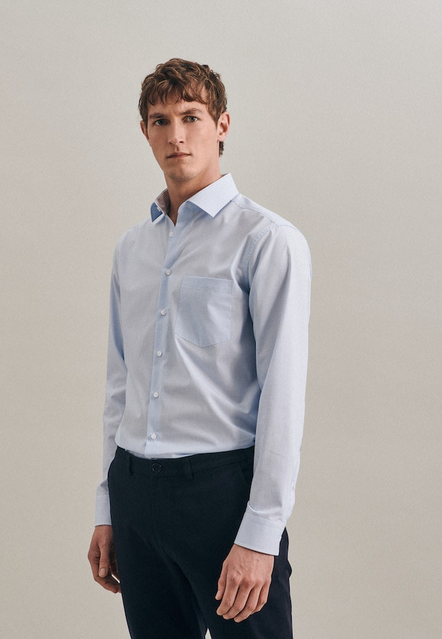 Non-iron Popeline Business Shirt in Regular with Kent-Collar in Turquoise |  Seidensticker Onlineshop