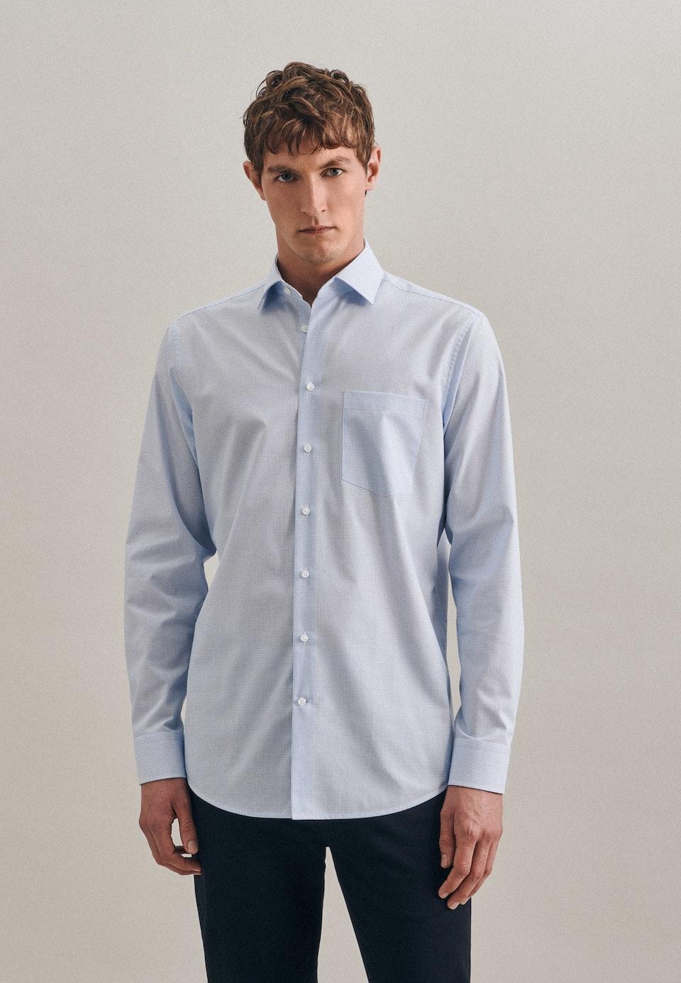 Non-iron Popeline Business Shirt in Regular with Kent-Collar in Turquoise |  Seidensticker Onlineshop