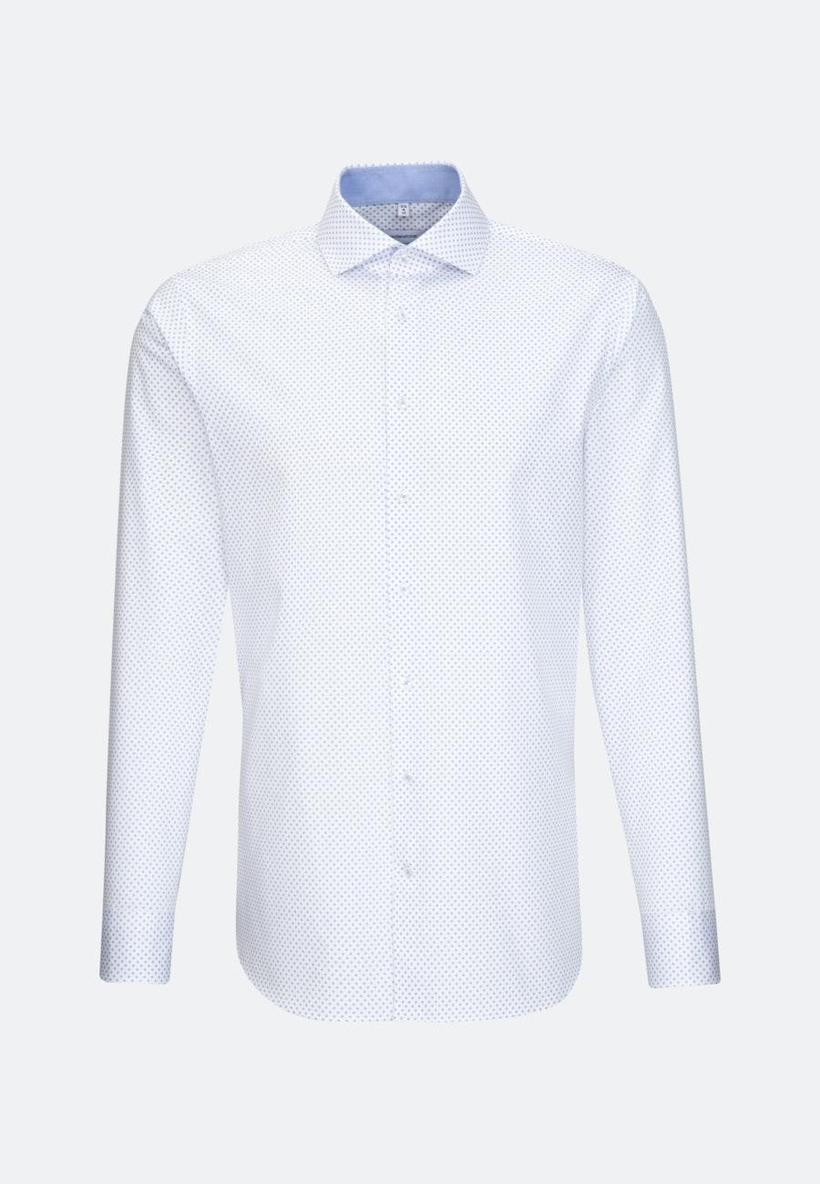 Bügelleichtes Twill Business Hemd in X-Slim mit Kentkragen in Weiß |  Seidensticker Onlineshop