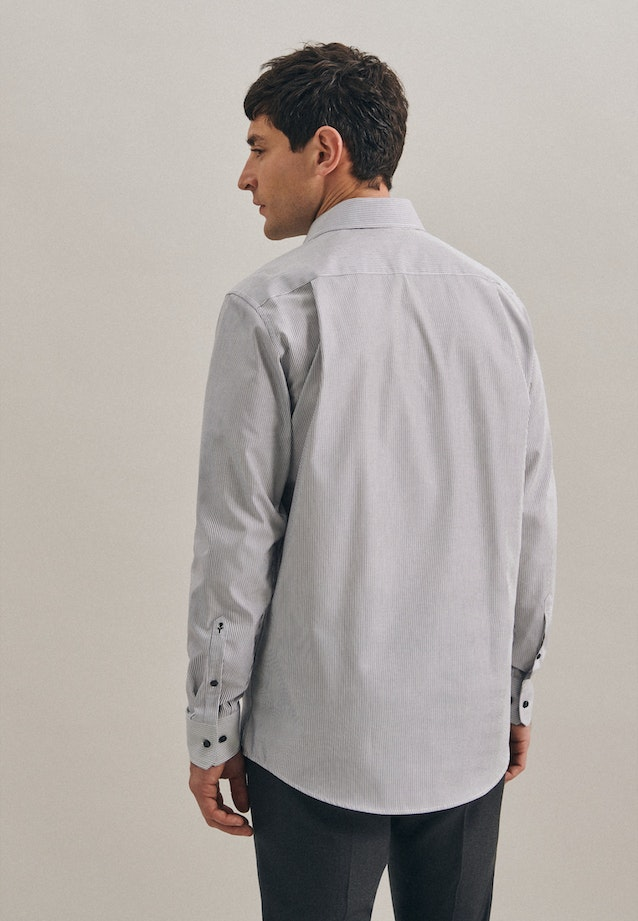 Non-iron Popeline Business Shirt in Regular with Kent-Collar in Grey |  Seidensticker Onlineshop