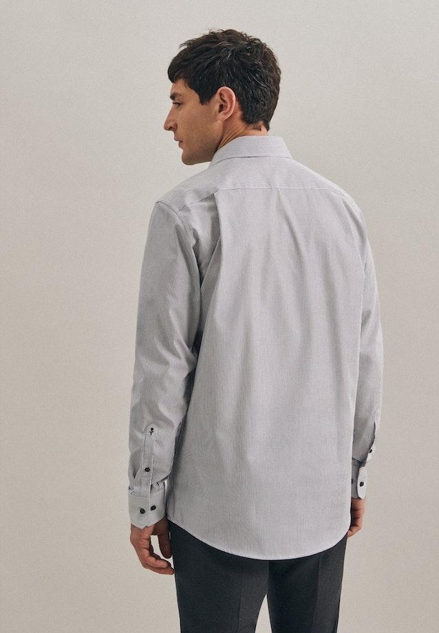 Bügelfreies Popeline Business Hemd in Regular mit Kentkragen in Grau    Seidensticker Onlineshop