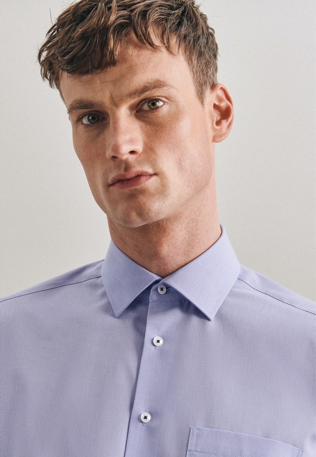 Non-iron Struktur Business Shirt in Regular with Kent-Collar in Light blue |  Seidensticker Onlineshop