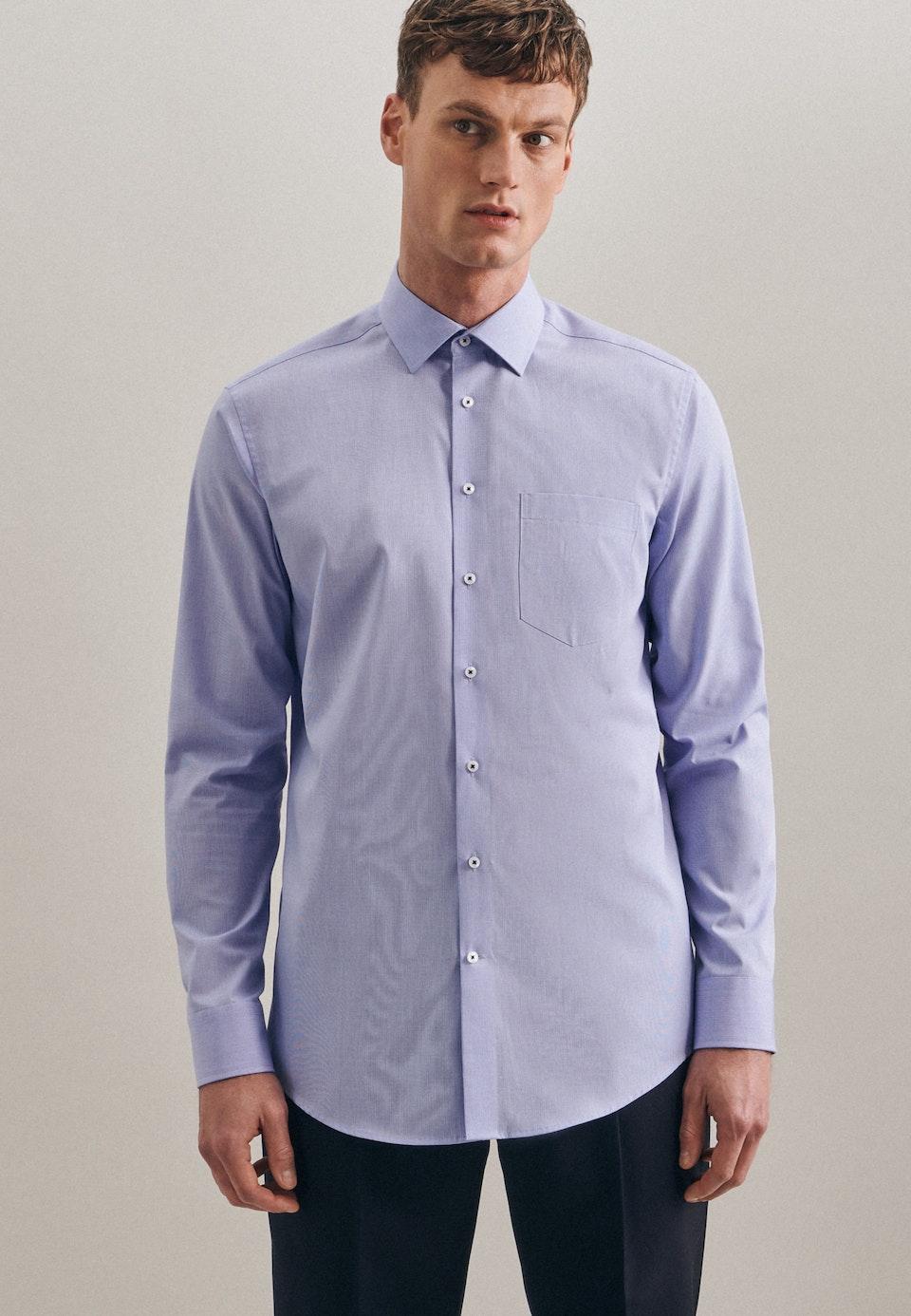 Non-iron Struktur Business Shirt in Regular with Kent-Collar in Light blue |  Seidensticker Onlineshop