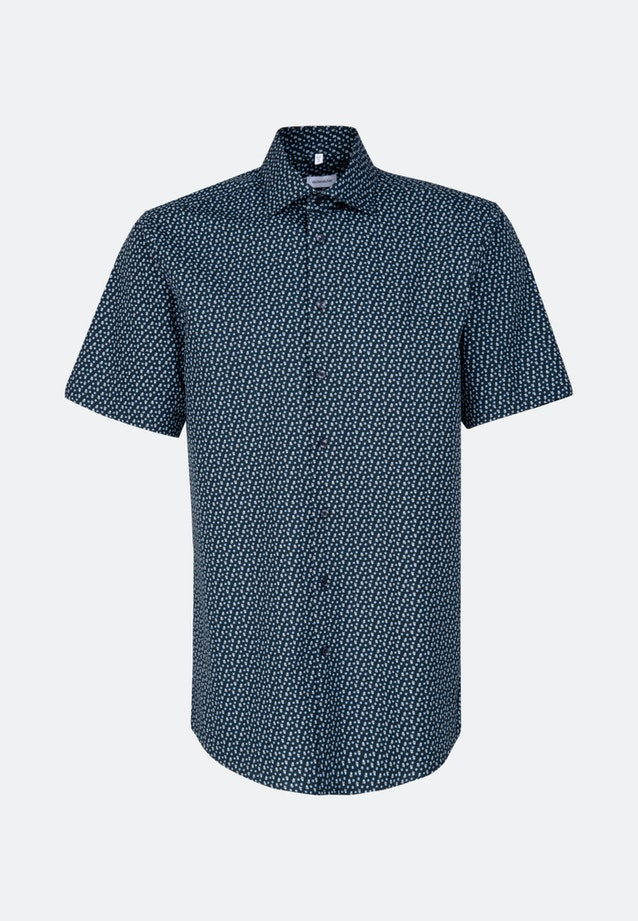 Easy-iron Popeline Short sleeve Business Shirt in Regular with Kent-Collar in Dark blue |  Seidensticker Onlineshop