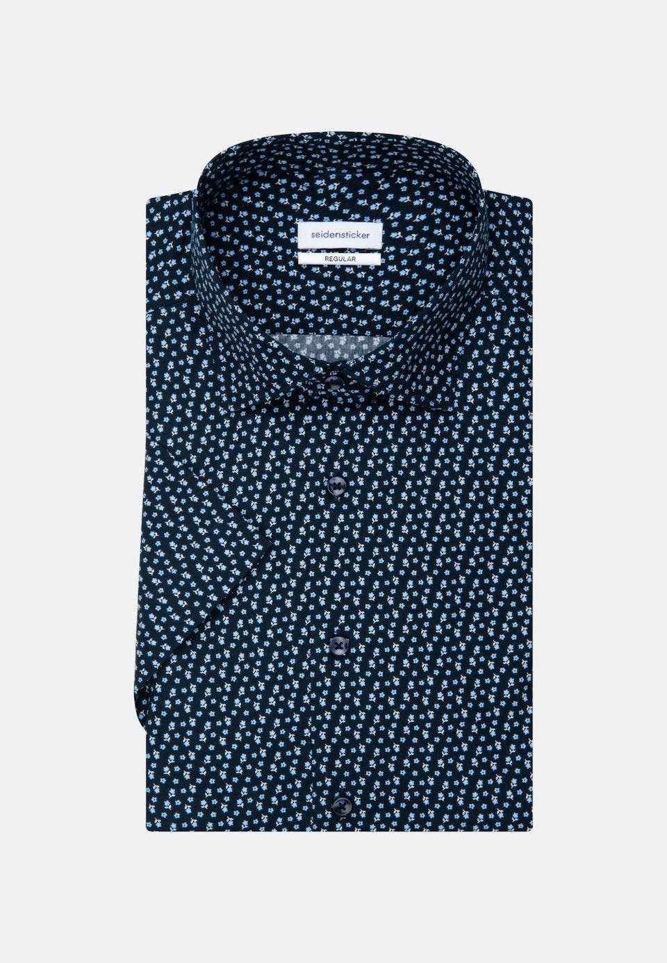 Popeline Kurzarm Business Hemd in Regular mit Kentkragen in Dunkelblau |  Seidensticker Onlineshop