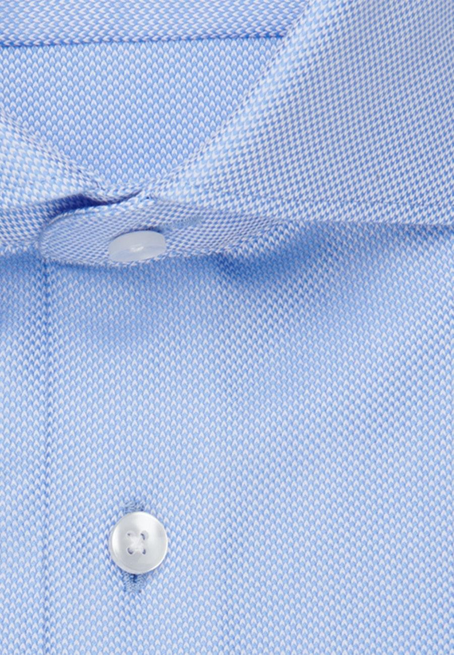 Bügelleichtes Struktur Business Hemd in Slim mit Kentkragen in Hellblau    Seidensticker Onlineshop